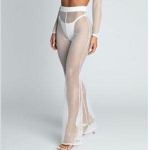 Meshki Net Swim Coverup Pants Size Medium NWT